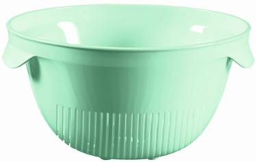 Curver Plastic Colander Kitchen Essentials White Blue