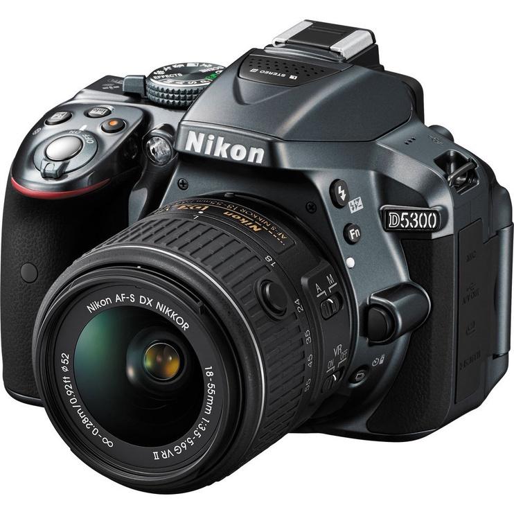 Nikon D5300 DSLR Camera + 18-55 mm Lens Gray