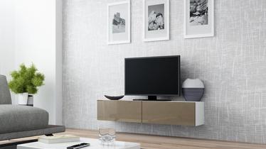 TV staliukas Cama Meble Vigo 140 White/Latte Gloss, 1400x300x400 mm