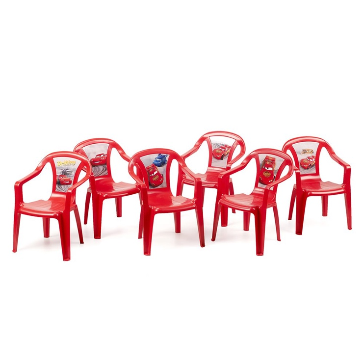 Bērnu krēsls Home4you Disney Cars Red, 380x380x520 mm