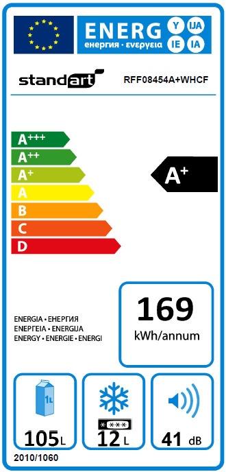 Šaldytuvas Standart RFF08454A+WHCF