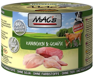 Mac's Rabbit & Vegetables 200g