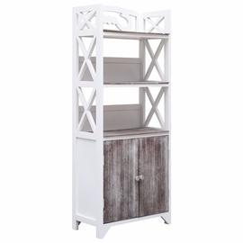 Шкаф для ванной VLX 284108, коричневый/белый, 24 x 46 см x 116 см