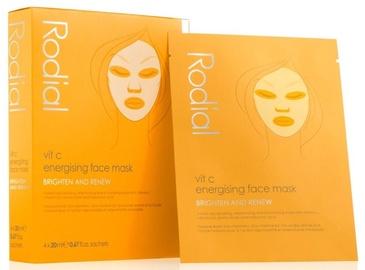Veido kaukė Rodial Vit C Vit C Energising Sheet Masks, 4x20 ml