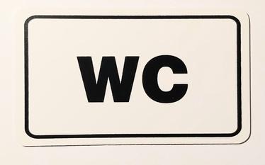 Informācijas zīme Plastic Warning Sign WC 120x70mm