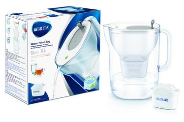 Vandens filtravimo indas BRITA Style XL 3.6L led, pilkas