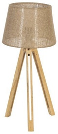 Home4you Table Lamp Ringo Wood H53cm