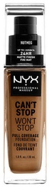 NYX Can't Stop Won't Stop Full Coverage Foundation 30ml Nutmeg