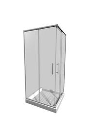 Kvadratinė dušo kabina Jika Lyra Plus 251382, 90x90x195 cm, be padėklo