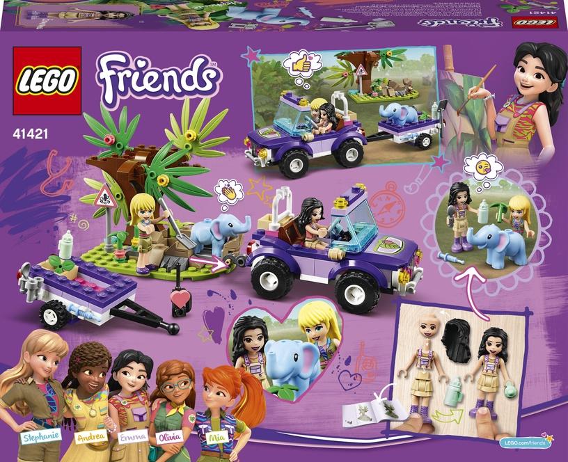 Конструктор LEGO Friends Джунгли: спасение слонёнка 41421, 203 шт.