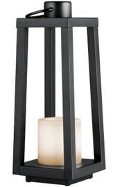 Trio Loja melna galda LED gaismeklis, IP44, 1W, ar saules baterijām