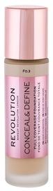 Makeup Revolution London Conceal & Define Foundation 23ml F0.3
