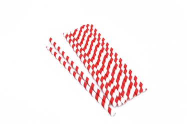 Mood Food Paper Straws 8x210mm Striped 20pcs