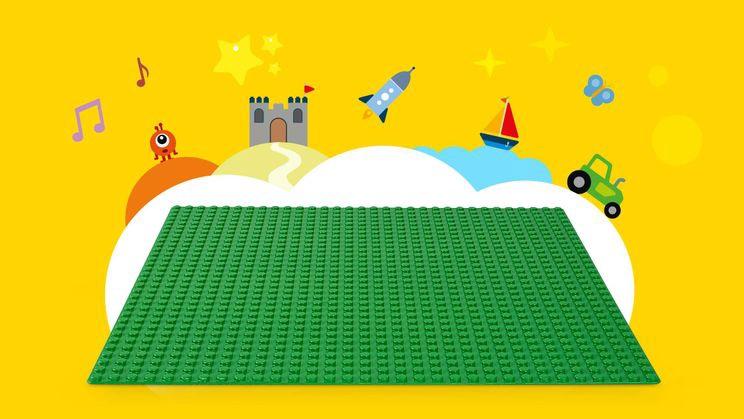 Lego Classic, alusplaat, roheline 10700