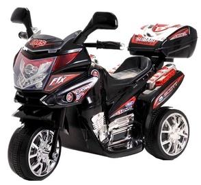 Rotaļlietu bezvadu motocikls Azeno Night Rider, melna/sarkana