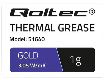 Qoltec Thermal Grease Series 3.05 W/m-K 1g Gold
