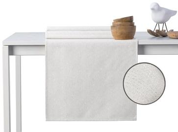 DecoKing Sparkle HMD Tablecloth Cream 40x120cm
