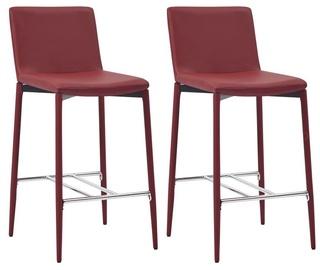 Bāra krēsls VLX Bar Stools 281518, sarkana, 2 gab.