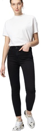 Audimas Womens Skinny Fit Stretch Denim Pants Black 29