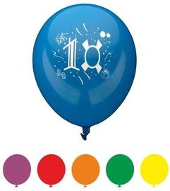 "Papstar Balloons Number ""10"" Ø25cm/80cm 6PCS"