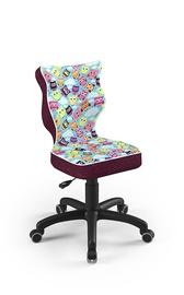 Детский стул Entelo Petit ST32, черный/фиолетовый, 370x350x830 мм