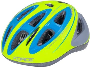 Шлем Force Lark, синий/желтый, S, 480 - 540 мм