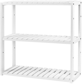 Songmics Bathroom Shelf 60x15x54cm White