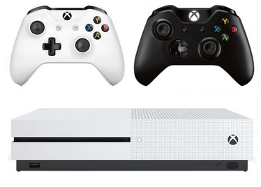 Microsoft Xbox One S 1TB White + Wireless Controller Black