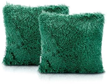 AmeliaHome Karvag Pillowcase 45x45 Green 2pcs