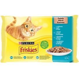 Konservai katėms FRISKIES® su žuvim rinkinys, 4 x 85g