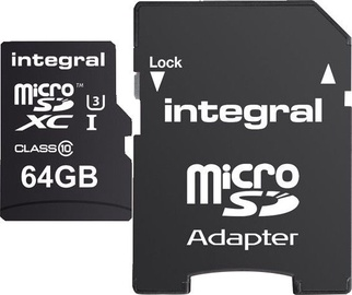 Integral 64GB micro SDHC/SDXC UHS-I Class 3 + SD Adapter