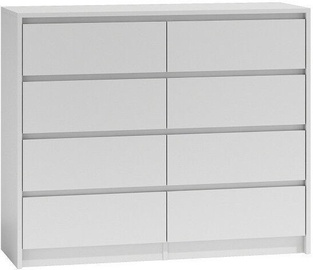 Top E Shop Karo K8 Chest of 8 Drawers White 120cm