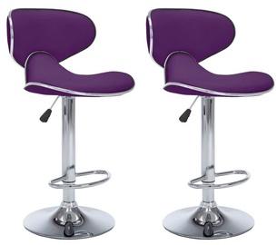Bāra krēsls VLX Bar Stools 323651, violeta, 2 gab.