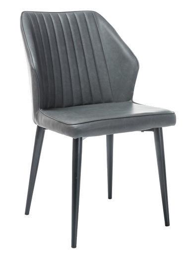 Стул для столовой Signal Meble Apollo Grey/Black, 1 шт.
