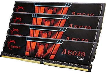 G.SKILL Aegis 64GB 2400MHz CL15 DDR4 KIT OF 4 F4-2400C15Q-64GIS