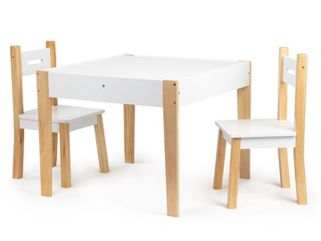 EcoToys Table and Chair Set White