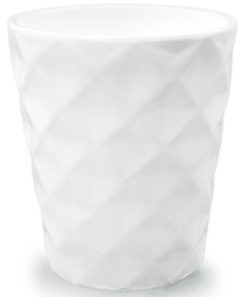 Verners Flower Pot With Cell Pattern White 13cm