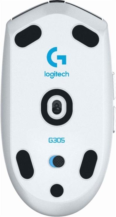 Žaidimų pelė Logitech G305 Recoil White, bevielė, optinė