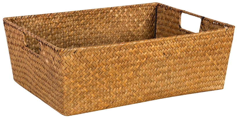 Home4you Basket Petra 1 40x31x14cm Brown