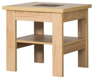 Kafijas galdiņš Bodzio S27 Dark Sonoma Oak, 600x600x590 mm