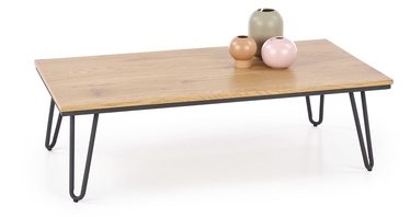 Kafijas galdiņš Halmar Nila Golden Oak/Black, 1050x550x320 mm