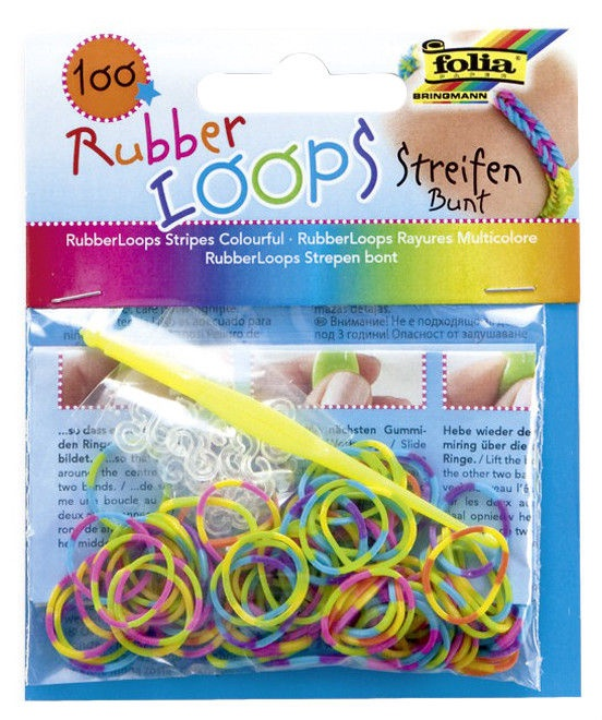 Folia Rubber Loops Multicolors 100pcs