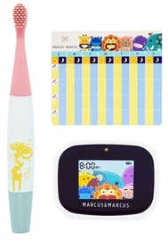 Marcus & Marcus Interactive Sonic Silicone Toothbrush Set Lola
