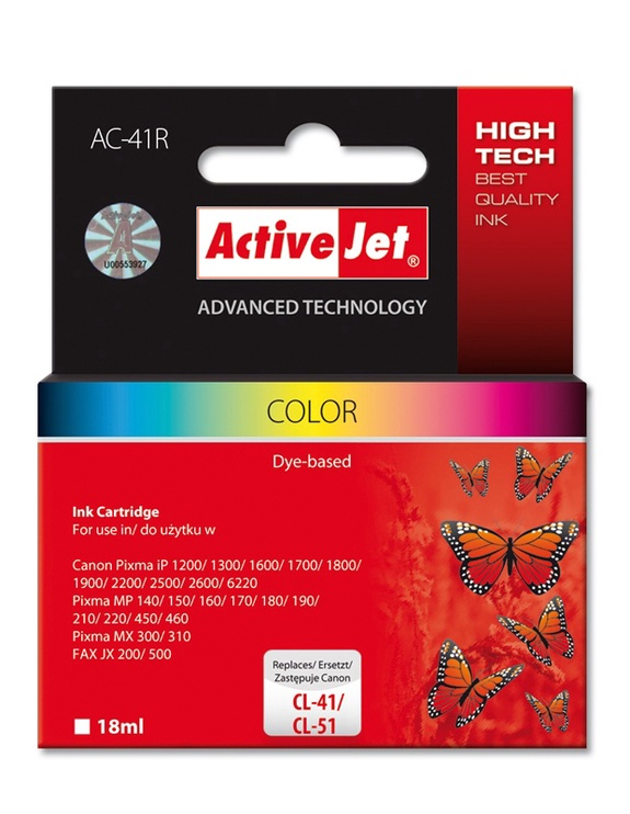 ActiveJet AC-41 Cartridge 18ml Cyan Magenta Yellow