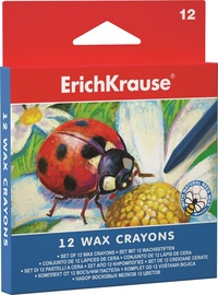 ErichKrause Wax Crayons Set Of 12pcs 34930