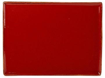 Porland Seasons Serving Plate 27.2x21cm Red