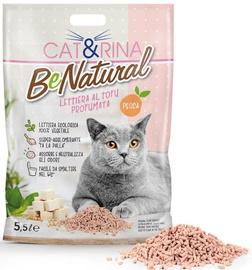 Kačių kraikas Cat&Rina Tofu With Peach, 5.5 l