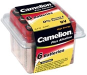 Baterijas Camelion 9V B6 1.5V, alkaline, 6 gab.