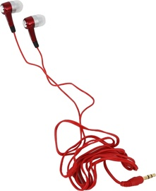 Ausinės Freestyle Universal In-Ear Stereo Earphones Red