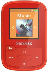 Grotuvas Sandisk Sansa Clip Sport+ Red, 16 GB